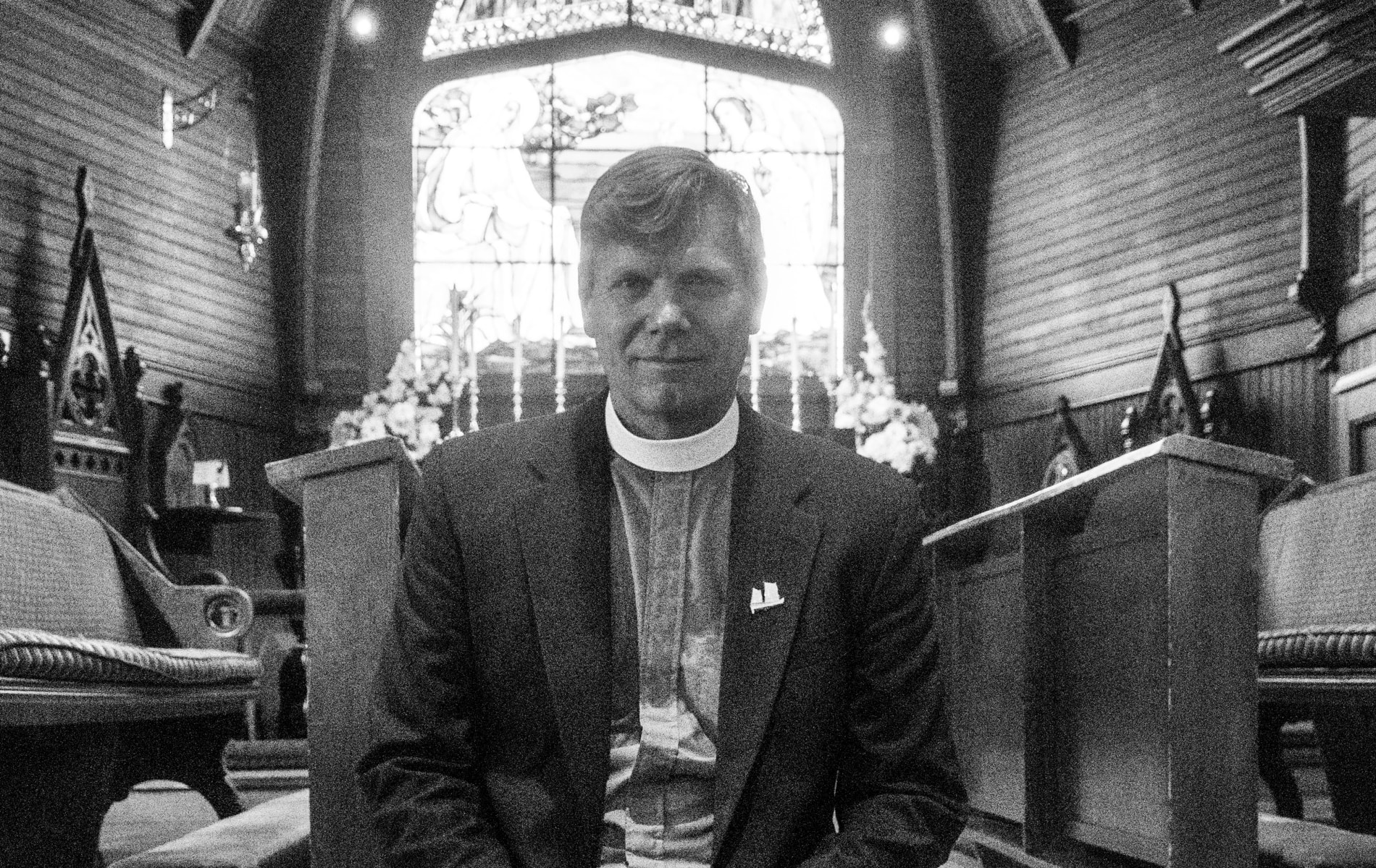 Reverend Jeff Lewis celebrates first year at St. Mary's Church