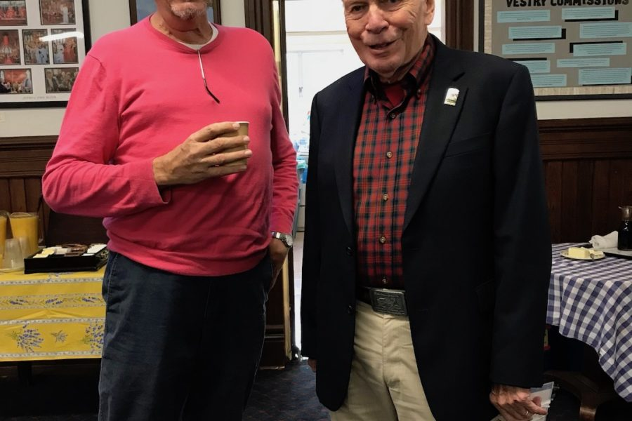 Don and Hersch at the St. Mary's Pancake Breakfast, October 14, 1028