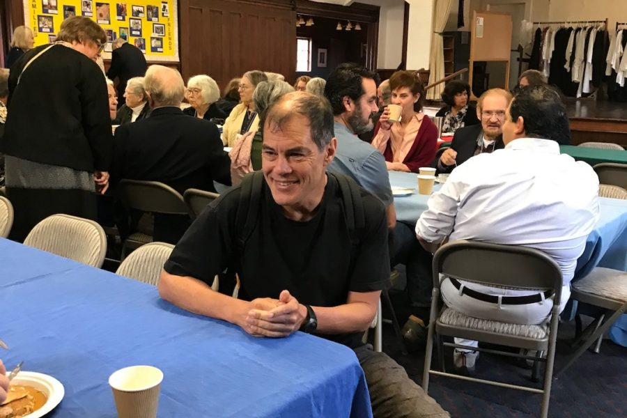 Eugene Loh at the St. Mary's Pancake Breakfast, October 14, 1028