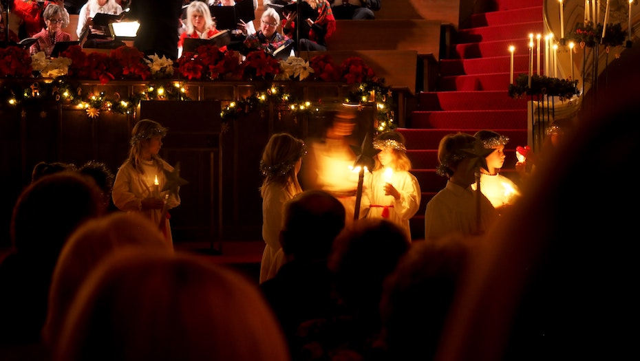 The Christmas party and Christmas Pageant at St. Mary's are a fun event for the whole family each year!