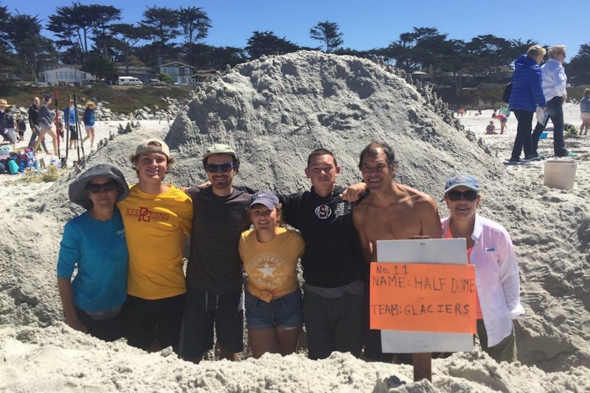 St. Mary's Youth Group participated in the Carmel Sandcastle Contest, September 8, 2018