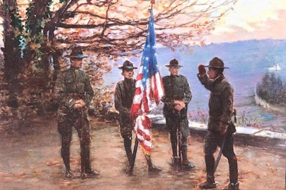 Veteran's Day painting from Annette was painted in 1917