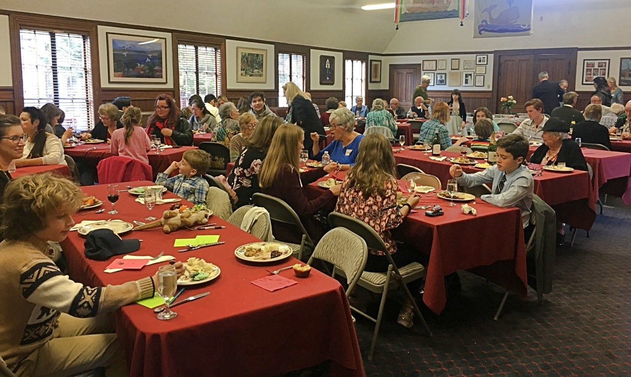 Full house for 2018 Thanksgiving Dinner at St. Mary's Church in Pacific Grove