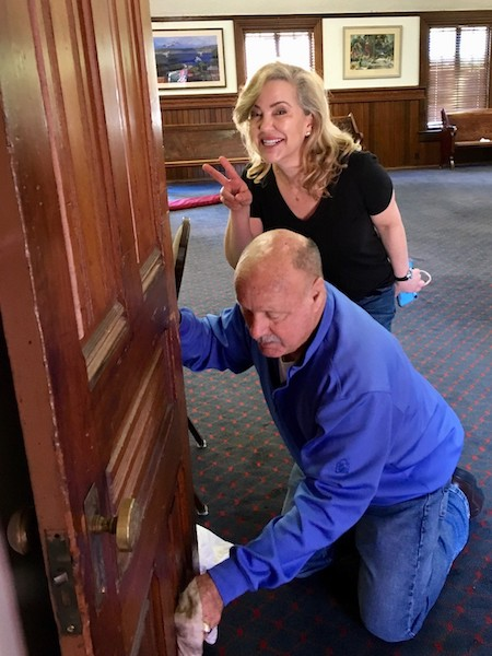 Elizabeth and Ken -- Our doors are always open—and clean, too!