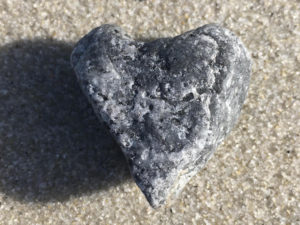 Stone shaped like a heart
