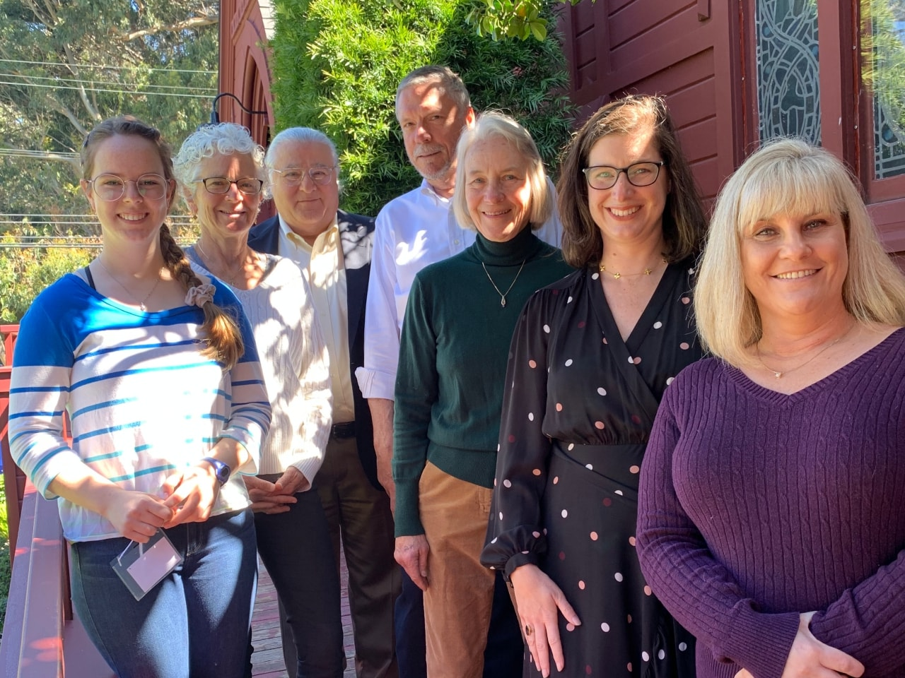 Group photo of Rector search committee 2019 in Pacific Grove, CA