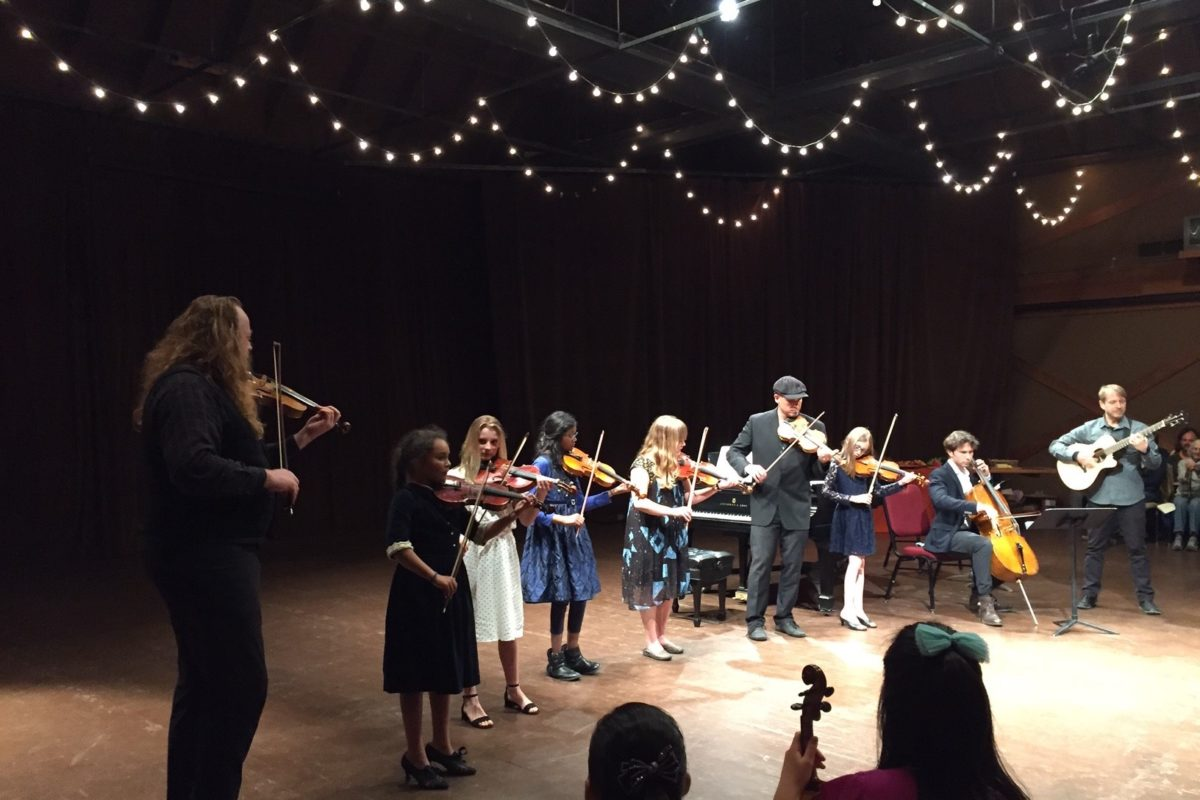 Our Celtoid pros perform with Bach Festival violinist Edwin Huizinga, and Molly's Revenge fiddler John Weed, at a classical meets Irish and Old Time fiddle mash-up at Hidden Valley.