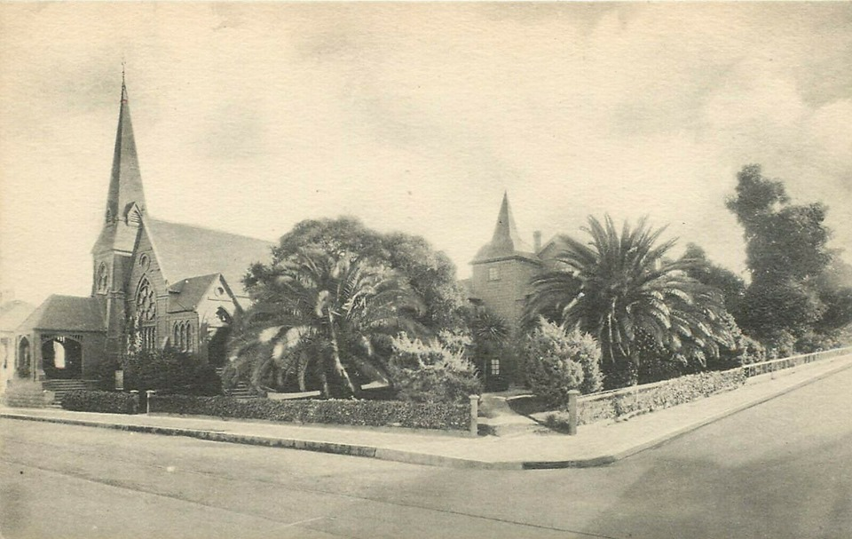 Vintage photo of St. Mary's By-The-Sea spotted in Facebook group: Vintage Images From The Monterey Peninsula.