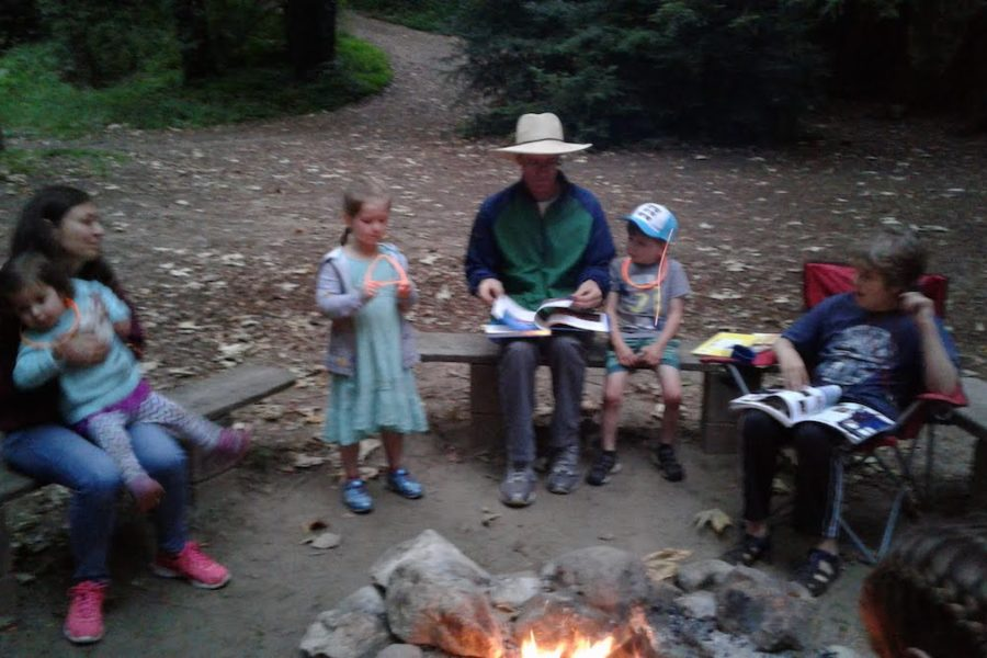 Campfire at St. Mary's Parish Camp 2019