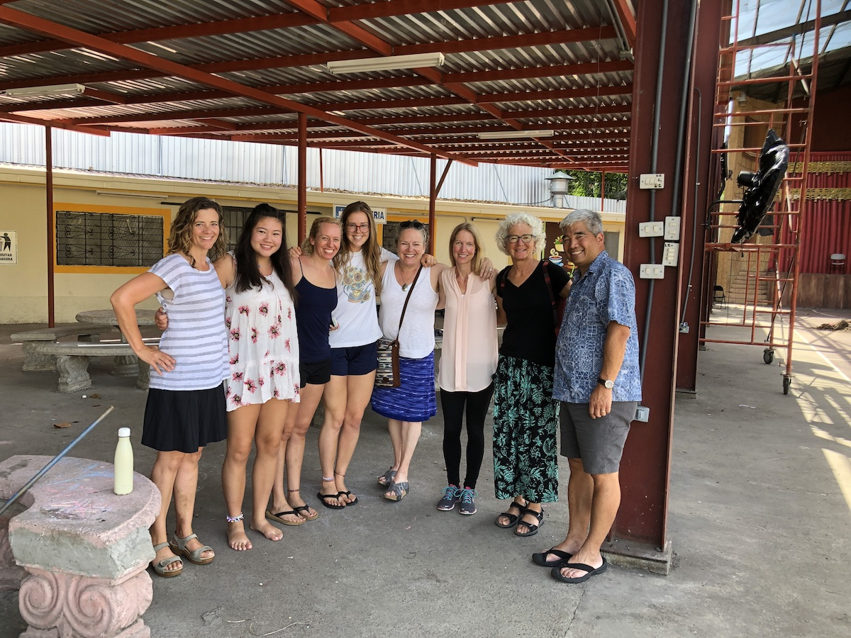 Team from St. Mary's by-the-sea visiting Our Little Roses school in Honduras, Summer, 2019