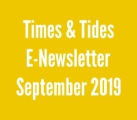 Times and Tides September 2019