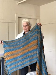 St. Mary's Prayer Shawl Blue