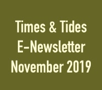 Times & Tides E-Newsletter, November 2019