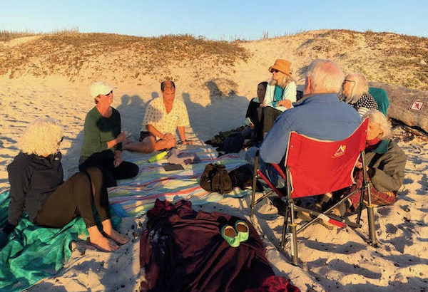 St. Mary's by-the-sea hosted Beach Blanket Bible on the beach in Carmel on Sunday, November 17, 2019