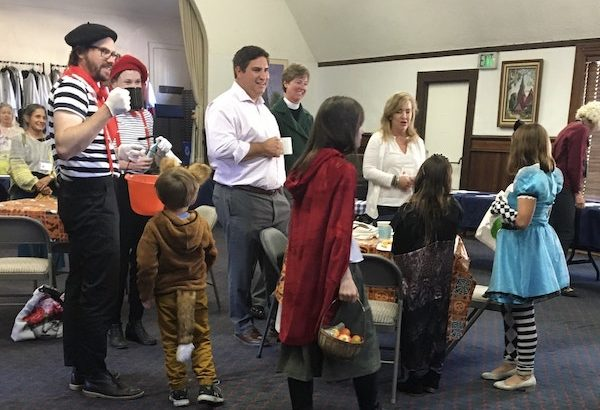 Halloween Sunday - our kids came by the coffee hour in their costumes!
