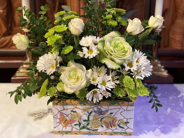Altar Guild is happy to do special Sunday arrangements for you, and your donation will be noted in the bulletin.