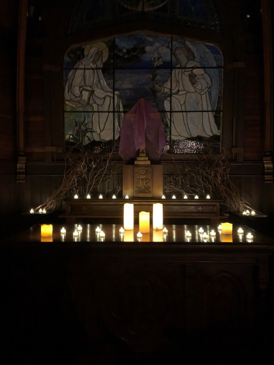 Taizé services began Friday, February 28.