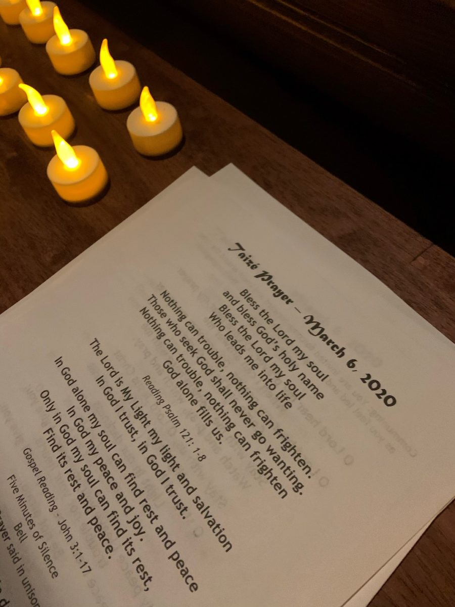 Taizé prayer, March 6, 2020