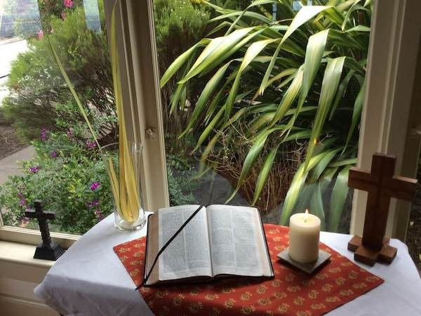 Here are some more of the home worship spaces shared by parishioners at St. Mary's By-the-Sea in Pacific Grove, CA