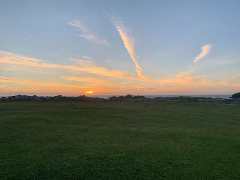 The sun sets over the Monterey Peninsula. Photo courtesy of Zach Goodwin.