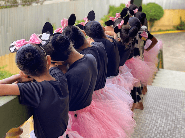 Our Little Roses in ballet tutus