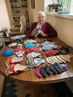Judy Obbink has made over 800 masks for her community!