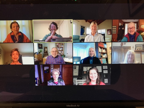 On Saturday, February 13th, the new and seasoned members of St. Marys' Vestry gathered with Kristine for their annual retreat via Zoom.