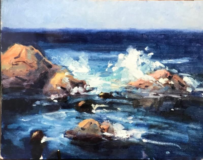 """""""Surf, Asilomar"""" - Annette Foisie"""