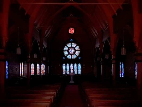 Inside our dark church on Good Friday, 2021
