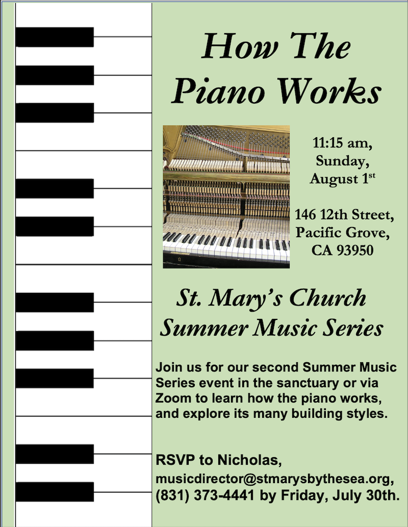 How the Piano Works Flyer